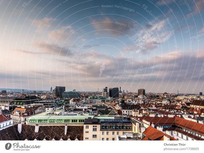 Wien Panorama Ferien & Urlaub & Reisen Stadt Haus Freude Ferne dunkel Architektur Gebäude Freiheit Tourismus Ausflug ästhetisch einzigartig Abenteuer bedrohlich