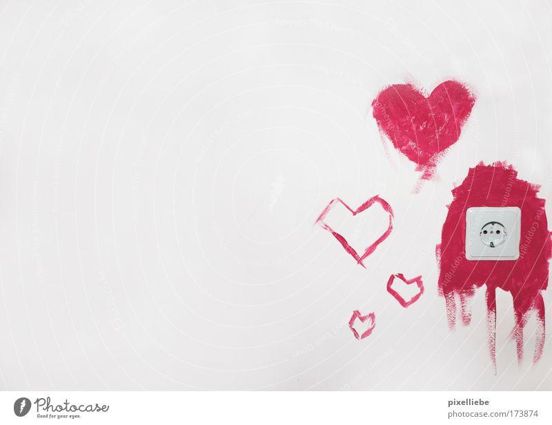 Liebesnest-Gestaltung weiß rot Gefühle Glück Freiheit rosa Wohnung Raum Häusliches Leben Dekoration & Verzierung Fröhlichkeit Kreativität Lebensfreude Romantik