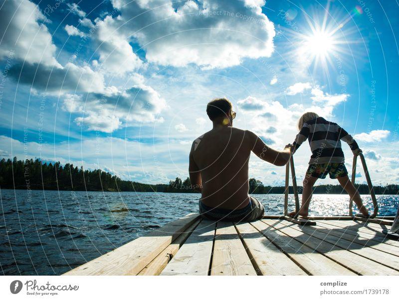 to relax | entspannen, ausruhen, relaxen [ugs.] Mensch Kind Ferien & Urlaub & Reisen Mann Sommer Sonne Meer Erholung ruhig Ferne Strand Erwachsene Küste Glück