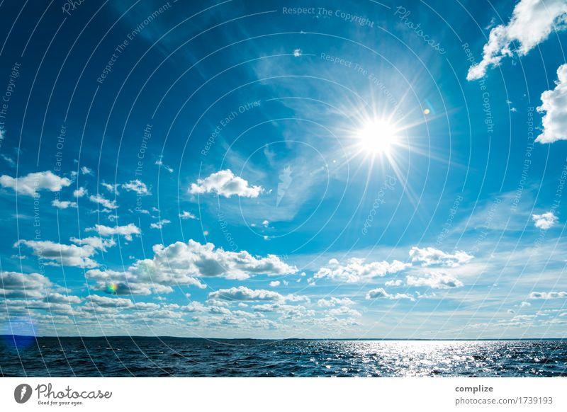 Sommer, See & Sonne Himmel Natur Ferien & Urlaub & Reisen Wasser Meer Erholung Wolken Freude Ferne Strand Umwelt Sport Küste Freiheit