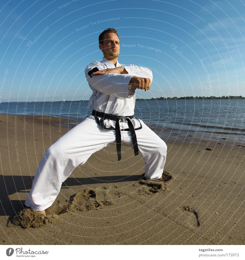 150 - STILL CALM ... Mann Hand Sport Kampfsport Gesundheit maskulin hoch Aktion Sportler Sport-Training sportlich üben Faust Jubiläum treten Karate