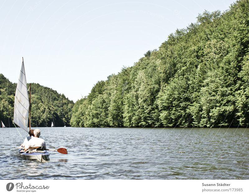 Kriebsteintalidyll Himmel Wasser Wald Ferne Küste Paar Wellen Ausflug retro Schwimmbad Seeufer Bucht Im Wasser treiben Schifffahrt Angeln Flussufer