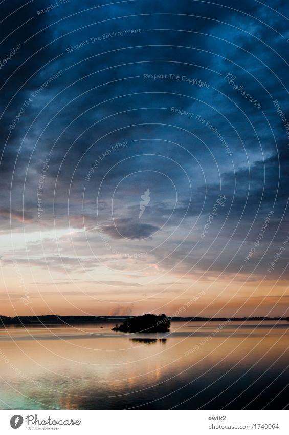 Atoll Himmel Natur Pflanze Wasser Baum Landschaft Erholung Wolken ruhig Umwelt klein See Deutschland Horizont Zufriedenheit glänzend