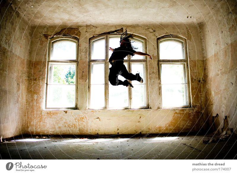 GRENZEN DER PHYSIK Jugendliche alt Freude Erwachsene dunkel Spielen Architektur springen Glück Stil Freizeit & Hobby fliegen maskulin ästhetisch außergewöhnlich