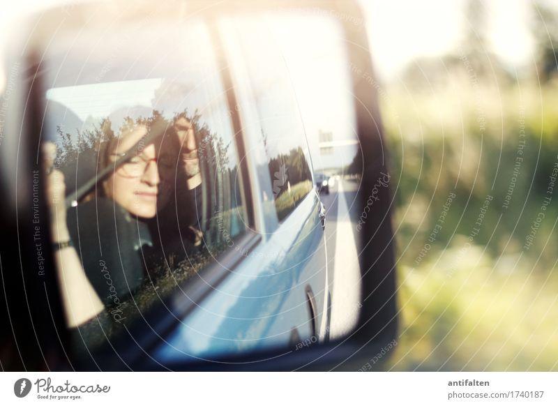Fernweh Ferien & Urlaub & Reisen Ausflug Ferne Sommer Sommerurlaub feminin Frau Erwachsene Freundschaft Leben Kopf Gesicht Auge Nase Mund 1 Mensch 2 3