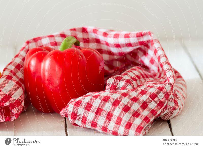 Paprika rot Schote Gemüse reif frisch Frucht Nahaufnahme Speise Essen Foodfotografie Lebensmittel Ernährung roh Gesundheit Gesunde Ernährung Vitamin