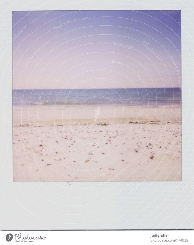Ostsee Natur Himmel Strand Ferien & Urlaub & Reisen ruhig Erholung Polaroid Landschaft Küste Umwelt Horizont Meer