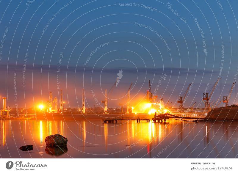 Tanker im Hafen. Hafen in der Nacht, Schwarzes Meer Ferien & Urlaub & Reisen Tourismus Ausflug Kreuzfahrt Expedition Sommer Arbeit & Erwerbstätigkeit Beruf