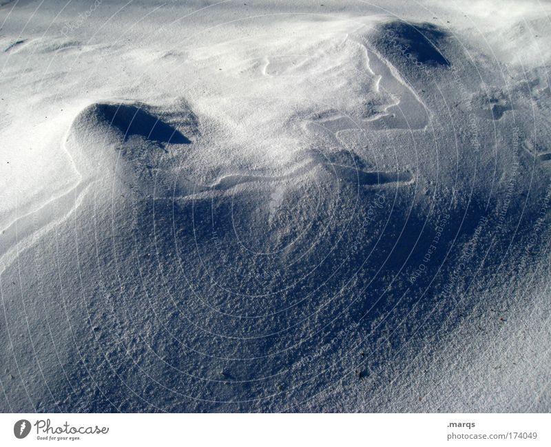 40 Jahre Natur weiß Winter kalt Schnee Landschaft Hügel Mond Urelemente