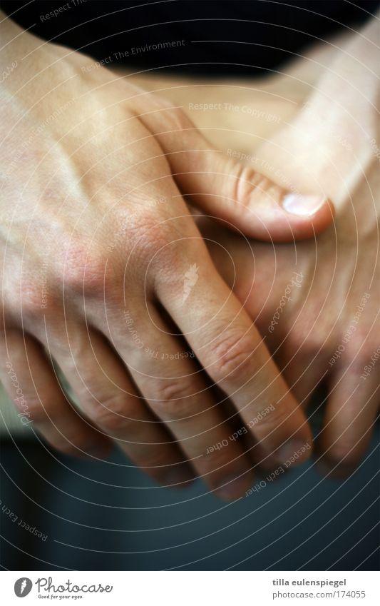 hand(lich) Hand Jugendliche blau ruhig warten Haut Erwachsene maskulin einfach natürlich Gelassenheit geduldig Junger Mann 18-30 Jahre