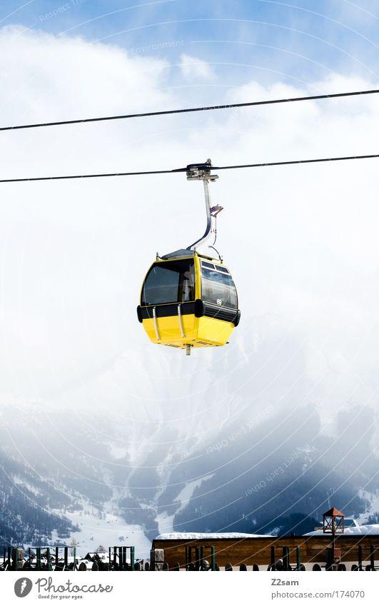 freu mich schon wieder Himmel Ferien & Urlaub & Reisen Wolken Winter Schnee Berge u. Gebirge Freizeit & Hobby Seil Sport Österreich Wintersport Verkehrsmittel Winterurlaub Skilift Skigebiet Gondellift