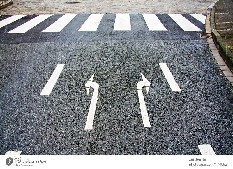 Rechts oder links? Straße Gesetze und Verordnungen Wege & Pfade Schilder & Markierungen Ordnung Platz Schriftzeichen fahren Asphalt Information Zeichen Pfeil Bürgersteig Richtung Mensch Parkplatz