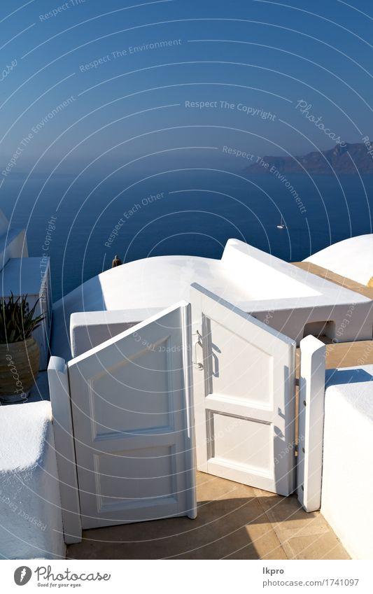 Santorini Griechenland Europa alte Konstruktion weiß und blau Himmel Natur Ferien & Urlaub & Reisen Stadt Sommer schön Landschaft Haus Straße Architektur