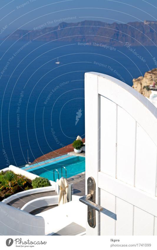 Haus in Santorini Griechenland Europa alten Bau weiß Reichtum schön Ferien & Urlaub & Reisen Tourismus Sommer Insel Kultur Natur Landschaft Himmel Dorf