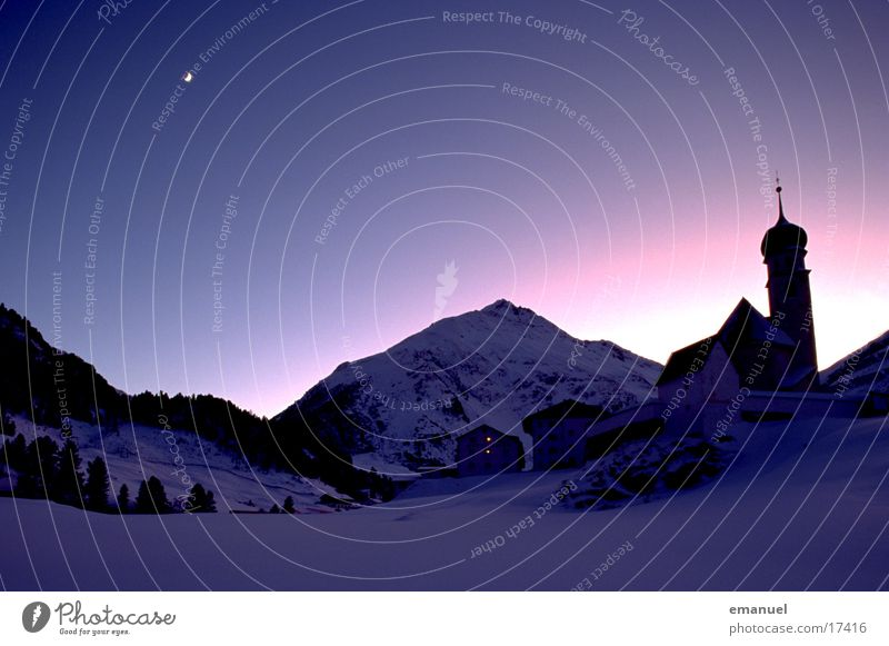 Romantik Naturphänomene Berge u. Gebirge Himmel