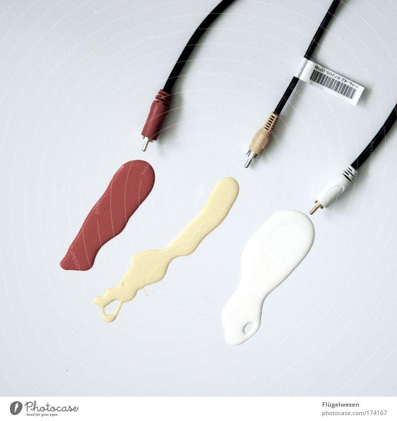 Scheiße, wer zum Henker hat die Hähne wieder aufgedreht? Informationstechnologie Farbe Medien laufen nass Datenträger Lifestyle Kabel Ende streichen malen