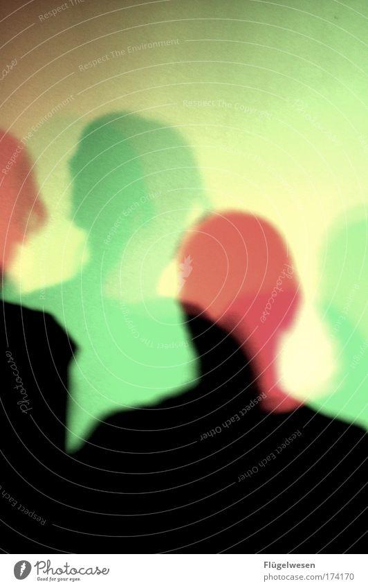 Schattenfarbige Mensch Erholung Kopf Glück Musik Kunst Tanzen frei Energiewirtschaft Lifestyle neu Coolness Club entdecken Veranstaltung genießen