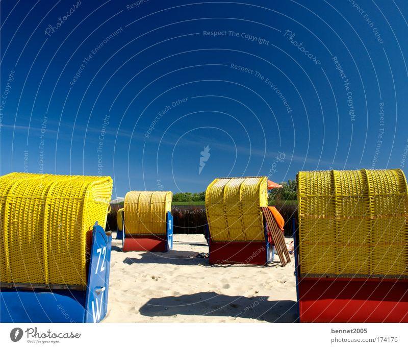 Meerblick Ferien & Urlaub & Reisen Sommer Sommerurlaub Sonnenbad Strand Sand Himmel Schönes Wetter Küste Nordsee Erholung genießen liegen schlafen träumen