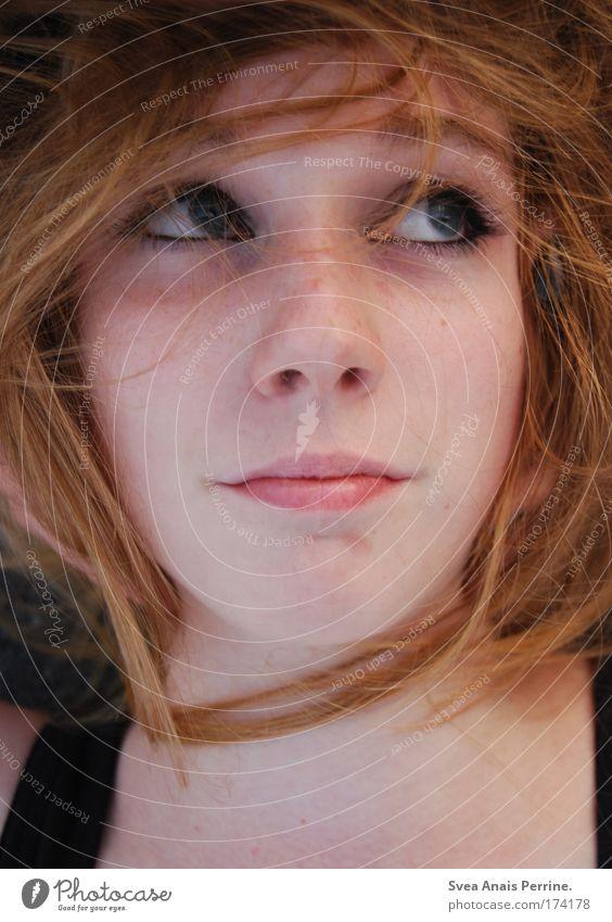 die schöne Mensch Jugendliche Gesicht Auge feminin Kopf Haare & Frisuren Glück Stil Zufriedenheit elegant authentisch Lippen Freundlichkeit Lächeln