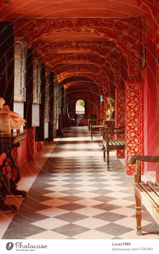 Roter Gang Ferien & Urlaub & Reisen schön rot Haus Ferne Innenarchitektur Stil Kunst außergewöhnlich Tourismus Design Raum Häusliches Leben