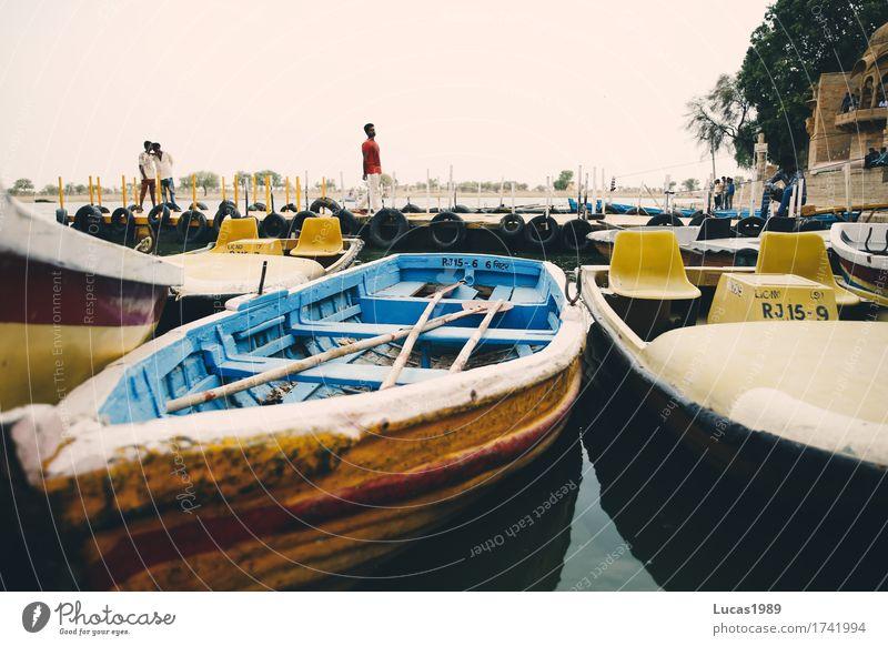 Boote Ferien & Urlaub & Reisen Tourismus Ausflug Abenteuer Ferne Sommerurlaub Jaisalmer Asien Verkehr Verkehrsmittel Personenverkehr Schifffahrt