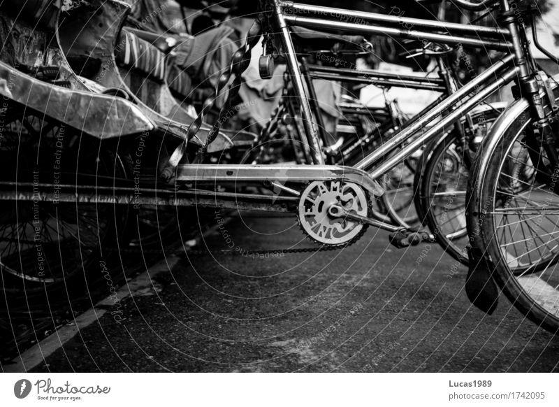 cycle rickshaw Ferien & Urlaub & Reisen Tourismus Ausflug Abenteuer Ferne Sightseeing Fahrradfahren Varanasi Indien Verkehr Verkehrsmittel Rikscha Rikschafahrer
