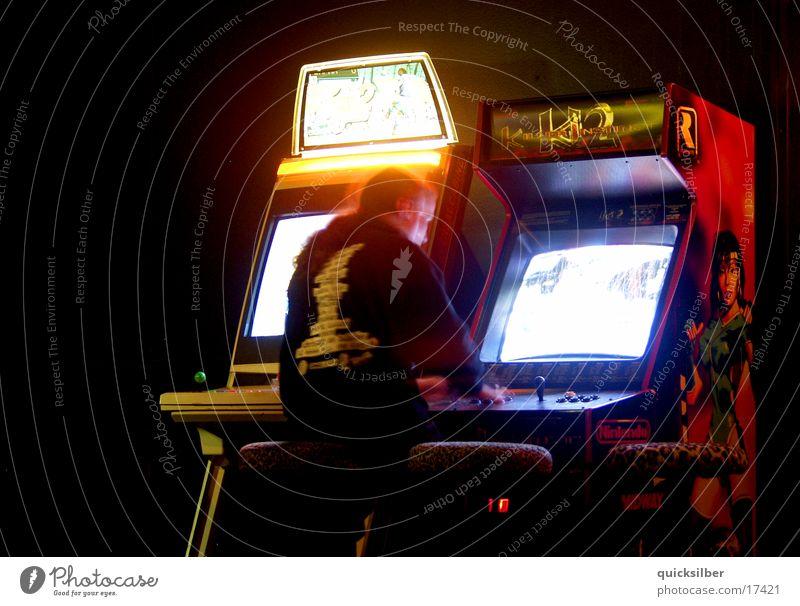 spielautomaten Disco Bar dunkel Fototechnik
