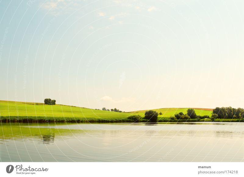 Naherholungsgebiet II harmonisch Sinnesorgane Erholung ruhig Ferien & Urlaub & Reisen Umwelt Natur Landschaft Urelemente Himmel Frühling Sommer Wiese Feld Hügel