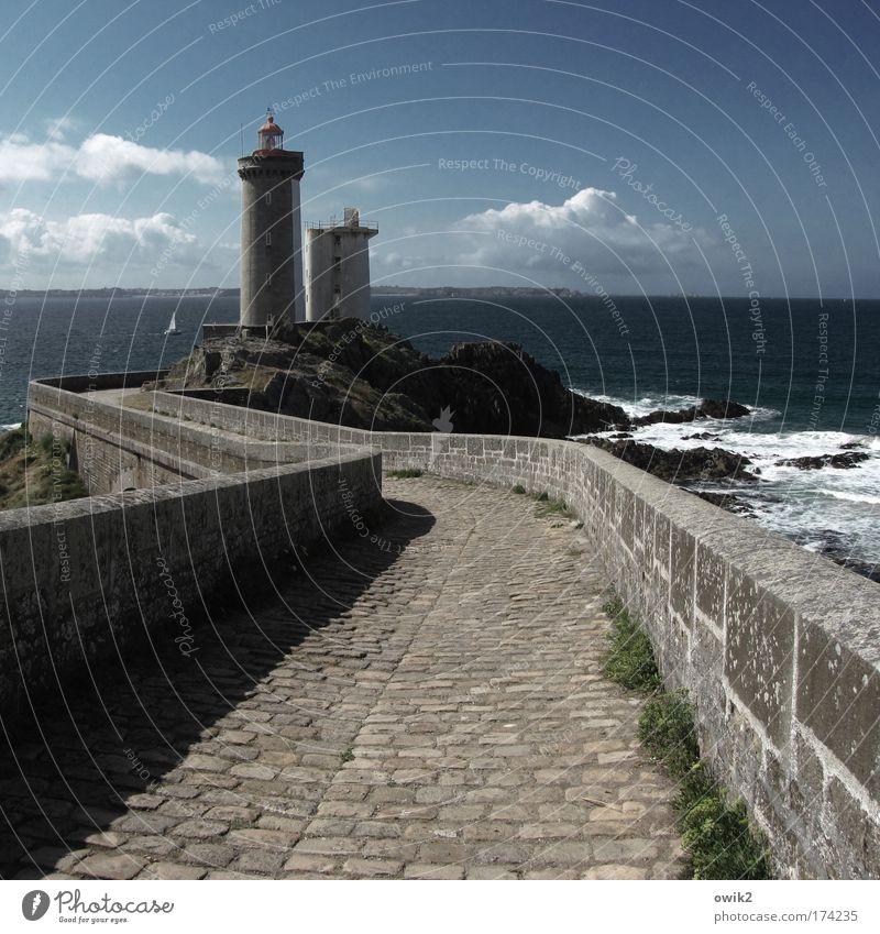Pointe du Petit-Minou Natur Wasser alt Himmel Meer Wolken Ferne Freiheit Stein Landschaft Luft Wellen Bretagne Umwelt Horizont Ausflug