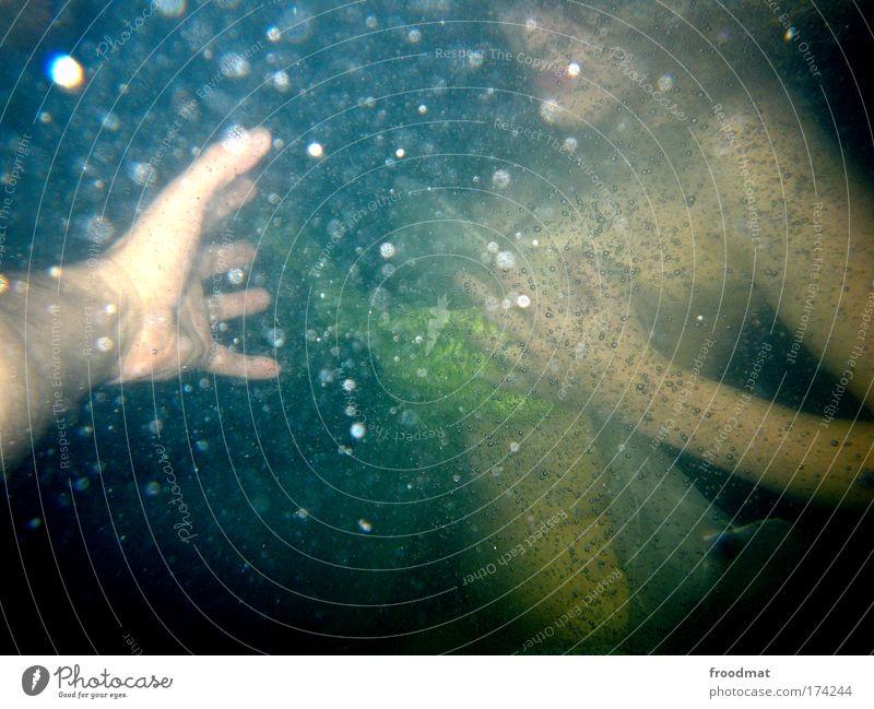 rettungsschwimmen Mensch Frau Jugendliche blau Wasser Hand Erwachsene feminin träumen Schwimmen & Baden ästhetisch 18-30 Jahre Team Junge Frau Schwimmbad tauchen