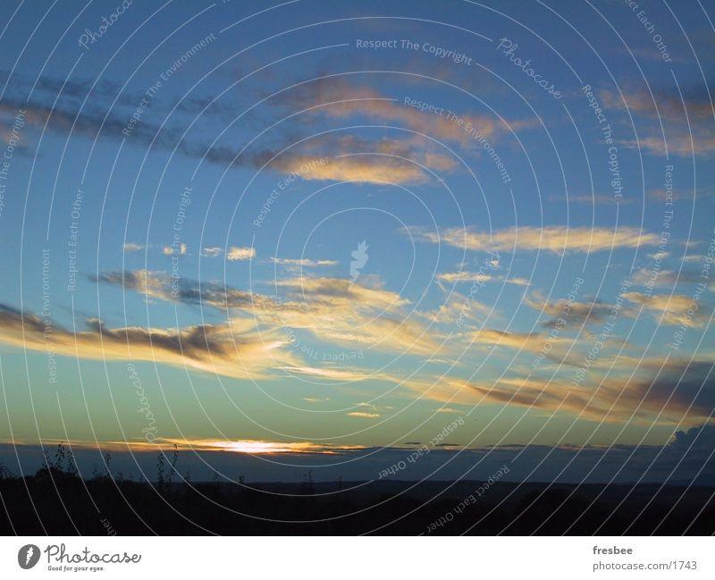 wolkenhimmel Wolken Himmel Abend
