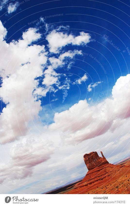 Blue vs. Orange Natur Ferien & Urlaub & Reisen Wolken Freiheit Stein Erde Wetter Zeit Horizont Ausflug Felsen Erfolg Hoffnung USA Vergänglichkeit