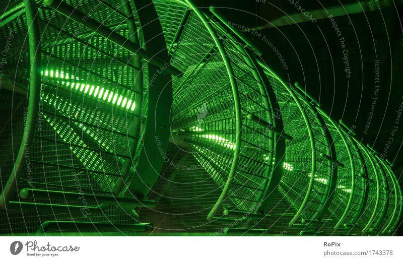 Metallgitter Stadt grün Architektur sprechen Gebäude Business Stimmung Arbeit & Erwerbstätigkeit Treppe Energiewirtschaft Technik & Technologie Industrie Turm