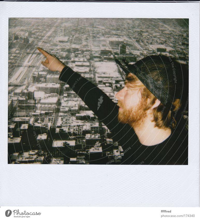 gugg a mal da! Mensch Mann Hand Jugendliche Freude Gesicht Haare & Frisuren Kopf Mund Polaroid Erwachsene Arme maskulin Nase Finger Behaarung