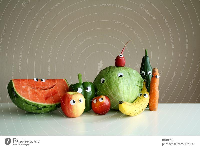 ein Abschiedsbild Freude Auge Ernährung Gefühle Gesundheit Lebensmittel Frucht Fröhlichkeit Küche Häusliches Leben Apfel Lebensfreude außergewöhnlich Gesicht