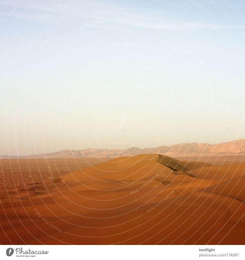 wüste Himmel Natur schön Sommer Ferien & Urlaub & Reisen Ferne gelb Freiheit Landschaft Umwelt Sand Wärme orange Erde Ausflug Tourismus