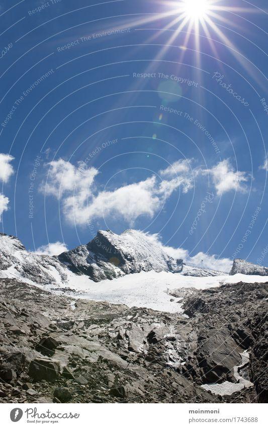 Kitzsteinhorn im Sommer Himmel Natur Ferien & Urlaub & Reisen Sommer Sonne Landschaft Ferne Berge u. Gebirge Umwelt Schnee Freiheit wandern Ausflug Schönes Wetter Abenteuer Gipfel
