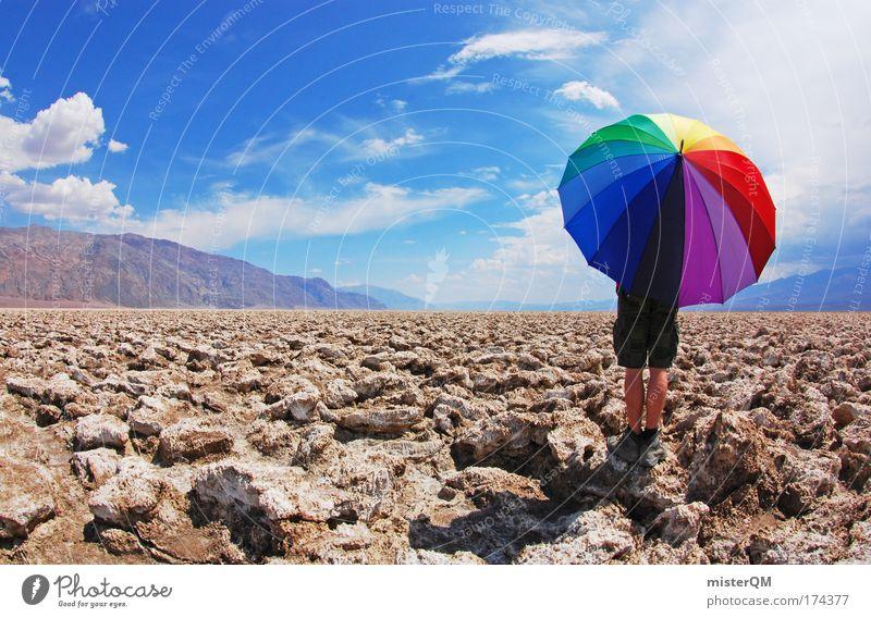 Farbpunkt. schön Einsamkeit Freude Ferne Umwelt Leben Stil Zeit Stein Perspektive Kreativität Idee Abenteuer Unendlichkeit USA Regenschirm