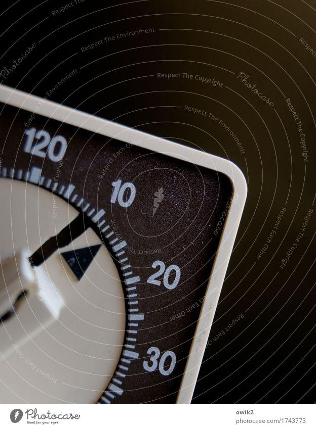 Erinnerungslücke Zifferblatt Uhr Kunststoff Ziffern & Zahlen einfach retro rund Pünktlichkeit geduldig bescheiden sparsam Desaster Genauigkeit Kontrolle