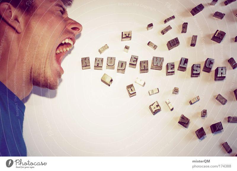 Male Communication. Gefühle Zufriedenheit Design Papier Kommunizieren Wunsch Bildung Kreativität Kontakt Beratung Werbung schreien Profil Handel Partnerschaft Perspektive