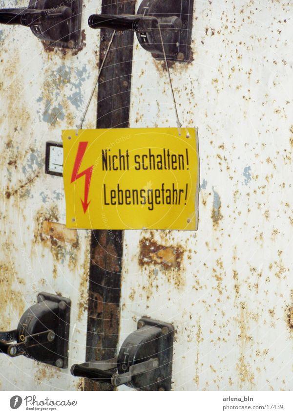 Lebensgefahr Schilder & Markierungen Industrie Hebel
