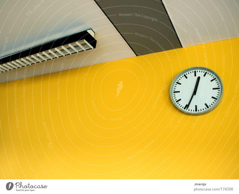 Mittagspause gelb Stil Büro Business Lampe Arbeit & Erwerbstätigkeit Zeit warten Design ästhetisch verrückt Innenarchitektur Uhr Lifestyle Sauberkeit Sitzung