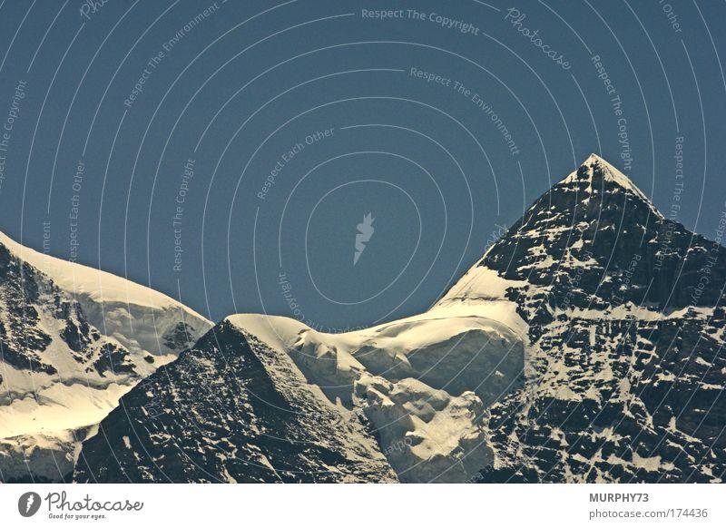 Schnee und Eis mitten im Sommer... Natur Himmel weiß blau schwarz kalt Berge u. Gebirge grau Landschaft Wetter Umwelt Horizont Felsen