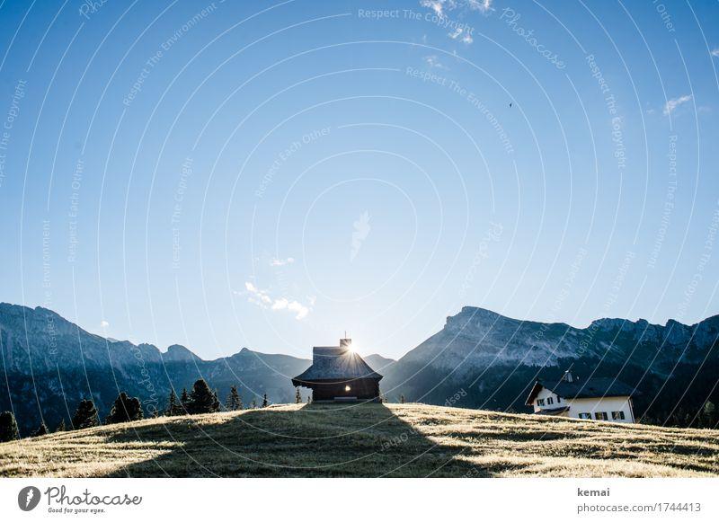 Sonnenaufgang hinterm Haus Himmel Natur Ferien & Urlaub & Reisen blau Sommer schön Erholung ruhig Ferne Berge u. Gebirge Leben außergewöhnlich Tourismus