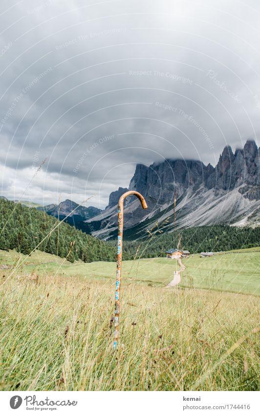 Ich wanderte schon vielerorts (revisited) Leben harmonisch Sinnesorgane Erholung ruhig Wanderstock Fußweg Berge u. Gebirge wandern Umwelt Natur Landschaft