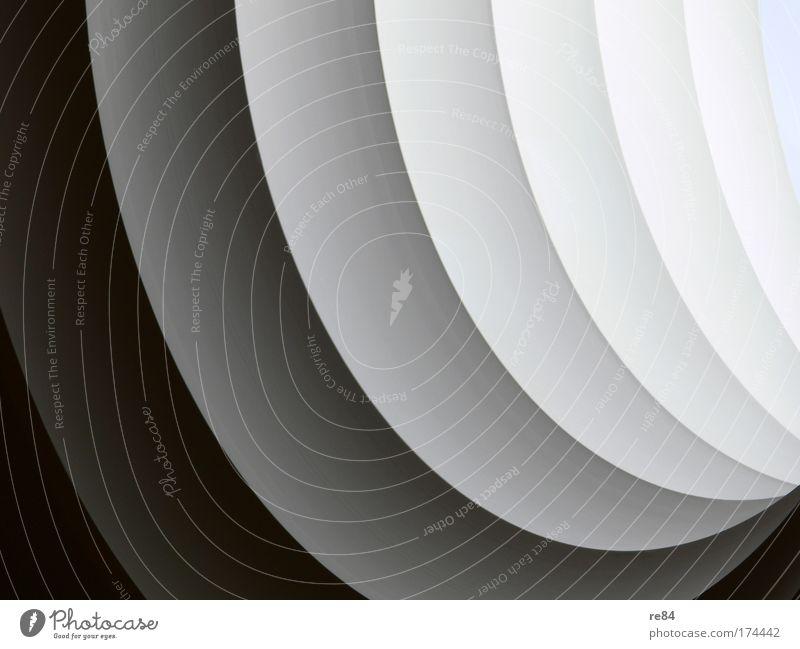 Tief in der Materie Architektur Gebäude hell außergewöhnlich Fassade modern ästhetisch rund einzigartig Bauwerk Bildausschnitt Bogen Anschnitt gekrümmt abstrakt