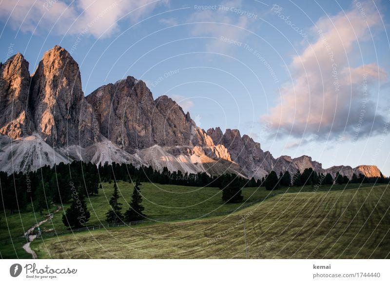 Bergparadies Himmel Natur Ferien & Urlaub & Reisen Pflanze Sommer schön grün Baum Landschaft Wolken Ferne Wald Berge u. Gebirge Umwelt Freiheit Felsen