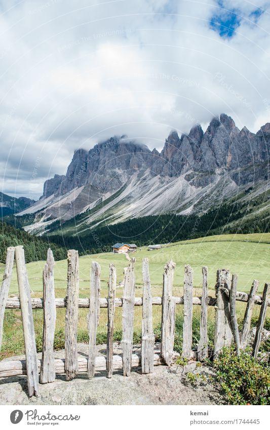 Postkarte aus den Dolomiten Leben harmonisch Wohlgefühl Zufriedenheit Sinnesorgane Erholung ruhig Freizeit & Hobby Ferien & Urlaub & Reisen Ausflug Abenteuer