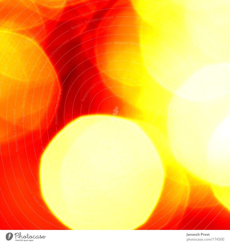 .licht II weiß rot gelb Leben Wärme hell Kunst glänzend gold Kreis Fröhlichkeit rund abstrakt heiß Kreativität Hölle