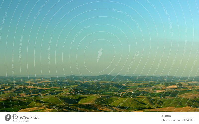 Weites Land Farbfoto Außenaufnahme Menschenleer Textfreiraum oben Textfreiraum Mitte Tag Sonnenlicht Starke Tiefenschärfe Vogelperspektive Panorama (Aussicht)